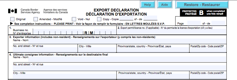 Shipping an Advance Notice - Cross-Border Institute